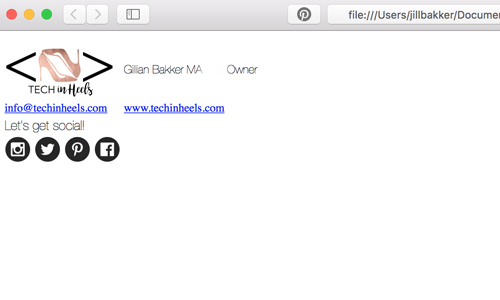 TechinHeels email signature