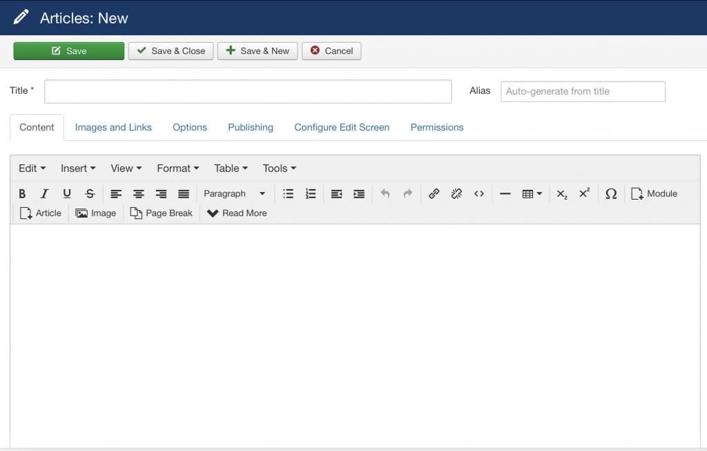 writing a Joomla blogpost