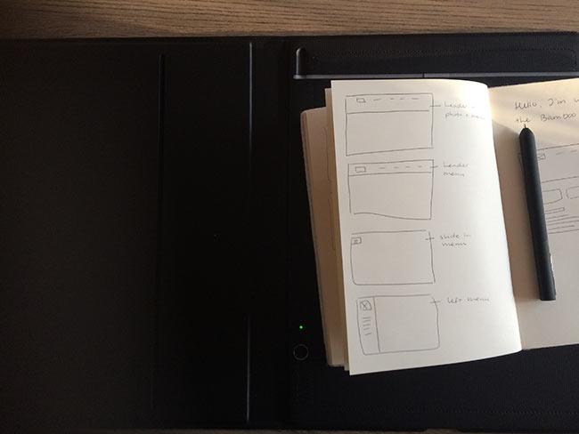 bamboo folio writing